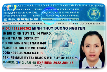 bằng lái xe, bằng lái xe quốc tế, bằng lái quốc tế, IDL, IDLicense, IDLicense.com, IDLicense.com.vn, IDLicense.vn, Driver, Driver License, International Driver License, International Driver's License, Krascar , Krascar International, Krascar International Trave Club, International Translation of Foreign Driver License